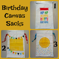 Birthday Drawstring Sacks