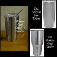 20oz. Stainless Steel Tumbler Straw Cleaning Bruch