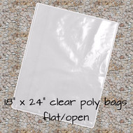 """18"""" x 24"""" Clear Poly Bags"""