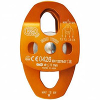 Kong Mini Twin Pulley Aluminum Double Wheel Orange