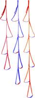 """PMI® 5 Step Etrier Blue w Red 5' 3"""""""