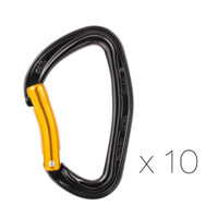 Petzl M60APS B Pack of 10 DJINN Steel Bent Carabiners