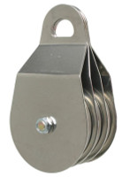 "CMI RP135 4"" Stainless Steel Triple Pulley (Needle Bearing)"