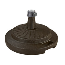 Umbrella Stand for Freestanding Umbrellas with Easy Move Roller 95lbs - Bronze