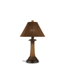 Palm Table Lamp - With Canvas Teak Sunbrella Fabric Lamp Shade