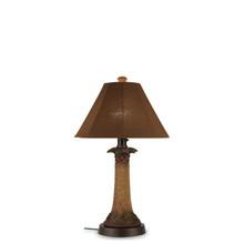 Palm Table Lamp - With Canvas Teak Sunbrella Fabric Lamp Shade