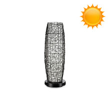 PatioGlo Solar Powered Floor Table Lamp - Color Changing LED with Wicker Cover