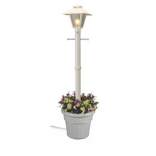 Cape Cod Electric Planter Lamp - White Base