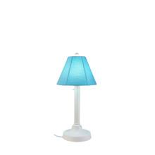 "San Juan 30"" Table Lamp - White Base with Canvas Aruba Sunbrella Fabric Lamp Shade"