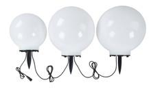 GardenGlo Solar Orb White LED