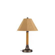 "Bahama Weave 34"" Table Lamp -  Mocha Cream 2"" Wicker Body with Linen Straw Sunbrella Fabric Lamp Shade"
