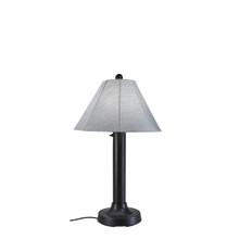 Seaside Table Lamp - Black Base with Canvas Granite Sunbrella Fabric Lamp Shade