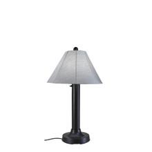 Seaside Table Lamp - Black Base with Canvas Granite Sunbrella Fabric Lamp Shade