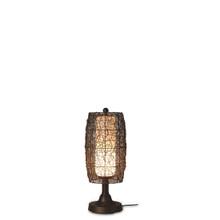 "Bristol 30"" Table Lamp with Walnut Sunbrella Fabric Lamp Shade"