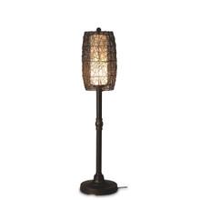 "Bristol 58"" Floor Lamp with Walnut Sunbrella Fabric Lamp Shade"