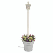 Cambridge Single Lantern Planter Lamp - White Base