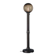 Moonlite Electric Floor Lamp - Black Body with Bronze Globe