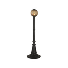 Milano Patio Lamp - Black Base with Bronze Globe
