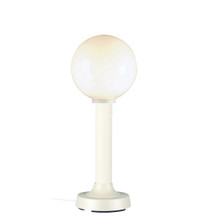 Moonlite Electric Table Lamp - White Body with White Globe