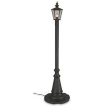 Cambridge Single Lantern Patio Lamp - Black Base