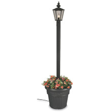 Cambridge Single Lantern Planter Lamp - Black Base