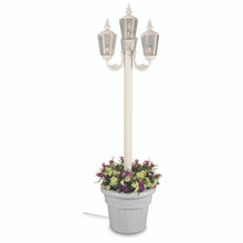 Cambridge Four Lantern Park Style Planter Lamp - White Base