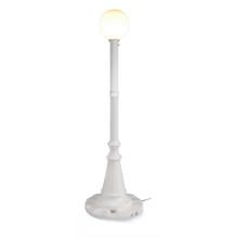 Milano Patio Lamp - White Base with White Globe