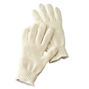 Radnor - Gloves - Large Natural Light Weight Polyester/Cotton Seamless String Gloves with Knit Wrist