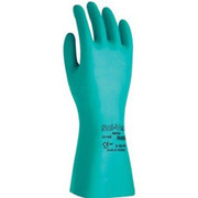 Ansell - Gloves - Size 8 Green Sol-Vex 13' Unlined 11 Mil Nitrile Glove with Sandpatch Finish and Straight Cuff