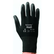 Ansell - Gloves - Black Size 10 SensiLite Coated Work Gloves with Seamless Back, Nylon Lining and Polyurethane Coated Palm (144 Pair Per Case)