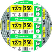 Southwire - Cable - 250 Ft. 12 Ga 2-Conductor Plastic Building Cable In Grey
