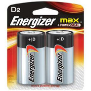 Eveready - Batteries - Energizer Eveready MAX 1.5 Volt D Alkaline Battery with Flat Contact Terminal (2 Per Card)