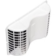 Deflect-o - Undereave Vent - 6 Undereave Vent with Damper White