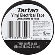 3M - Electrical Tape - 1615 Electrical Tape 60X3/4,Black Scotch 3/4 In. X 66 Ft Tartan
