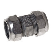 """Raco - Hubbell - 1/2"""" X 1/2"""" In. Die Cast Zinc Compression Coupling"""