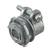 """Raco - Hubbell - 1/2"""" In. Die Cast Zinc Straight Squeeze Connector"""