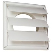 Deflect-o - Dryer Vent - 6 Louvered Kitchen Vent Hood White