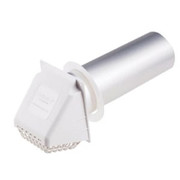 Deflect-o - Dryer Vent - 4 B/Room Vent Wide Mouth White - with Bird Guard