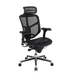 Realspace   Chair   WorkPro Quantum 9000 Series Mesh High Back Chair With  Headrest, Black