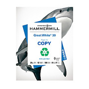 Hammermill - Copy Paper - Paper - Great White Paper, 8 1/2' X 11in, 20 Lb, 30% Recycled, Ream of 500 Sheets - Great White 30% Recycled Paper, 8 1/2' X 11in