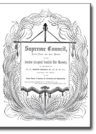 This rare 1889 work gives us a look into the organization of Joseph Cerneau's Sovereign Grand Consistory (Supreme Council), providing us with the Constitutions and General Regulations of the reorganized Cerneau bodies in the late 1800's, long after Cerneau himself had ceased being a part of this organization.