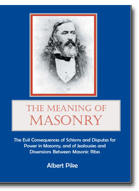 """The lecture was subtitled, """"The Evil Consequences of Schisms and Disputes for Power in Masonry, and of Jealousies and Dissensions Between Masonic Rites"""" and is a fascinating look at Pike's interpretation of the """"Masonic wars"""" of the mid 1800's in Louisiana."""