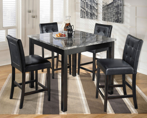 Dining Sets Maysville Black Square Counter Table Set Image 1