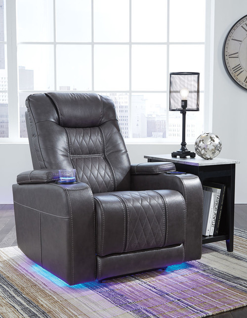 The Composer Gray Power Recliner Adjustable Headrest Available At