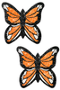 Shop women's orange and black glitter monarch butterfly nipple cover pasties that feature a durable no-mess glitter with latex-free adhesive nipple pasties!