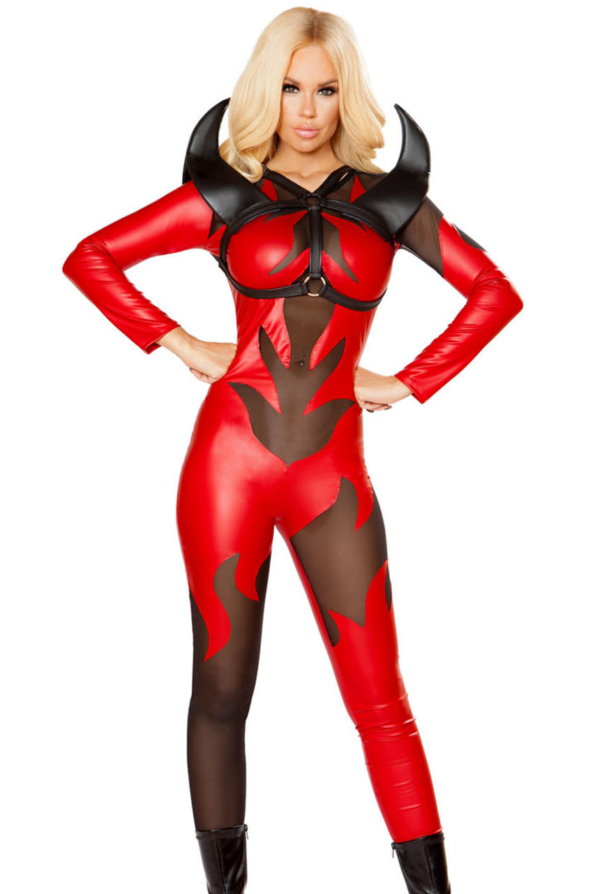 Womens Fired Up Devil Costume - Sexy Halloween Costumes-1898