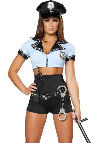 8Pc Sexy Police Woman - Womens Costume-3097