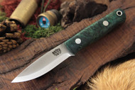 Mini Bushcrafter 3V Teal Maple Burl