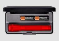 Mini Maglite AA Flashlight with Presentation Box - Red
