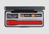 Mini Maglite AA LED Flashlight with Presentation Box - Red
